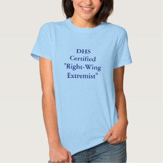 """""""Extremista de direita certificado sistema de T-shirts"""