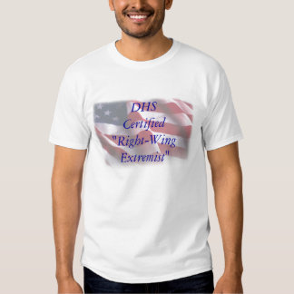 """""""Extremista de direita certificado sistema de Tshirt"""