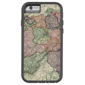 Extremo resistente do iPhone 6 do mapa do vintage Capa Tough Xtreme Para iPhone 6