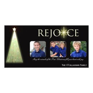 Exulte - cartões de foto de Natal Cartões Com Fotos