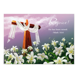 Exulte. Cartões de páscoa customizáveis Convite 12.7 X 17.78cm