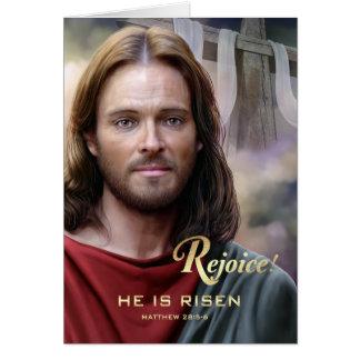 Exulte. Jesus é aumentado. Cartões da páscoa
