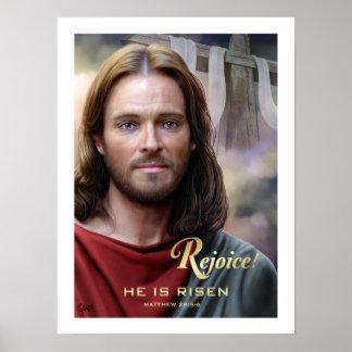 Exulte. Jesus é aumentado. pelo impressão da arte