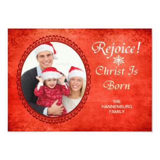 Exulte o cristo é foto feita sob encomenda cristã convite personalizados