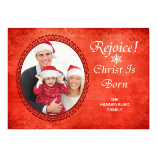Exulte o cristo é foto feita sob encomenda cristã convite 12.7 x 17.78cm