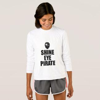 Eyepatch do pirata do olho do brilho. Texto escuro Camiseta