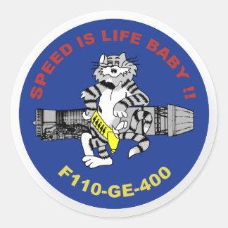 F-14 Tomcat Adesivos Em Formato Redondos