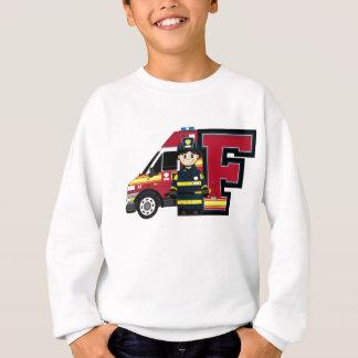 F é para o bombeiro dos desenhos animados agasalho