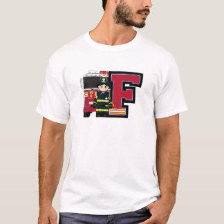 F é para o bombeiro dos desenhos animados camiseta