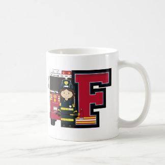 F é para o bombeiro dos desenhos animados caneca