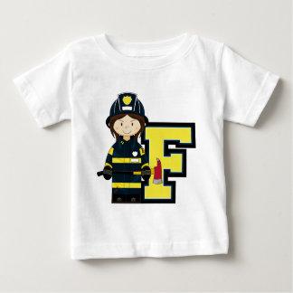 F é para o bombeiro dos desenhos animados t-shirts