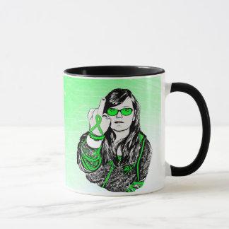 F fora da caneca de café da doença de Lyme