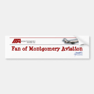 Fã da aviação de Montgomery Adesivo Para Carro
