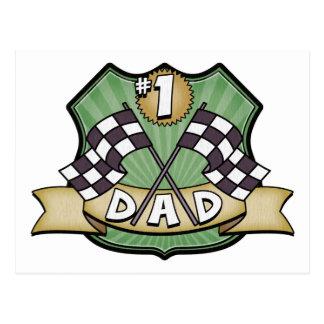 Fã da raça do dia dos pais do pai #1 cartão postal