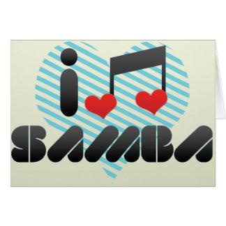 Fã da samba cartão