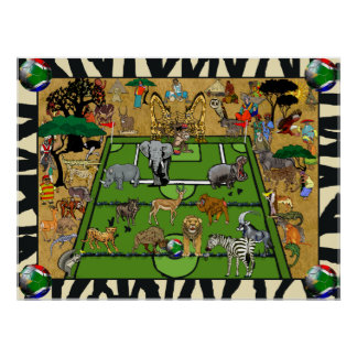 Fã de esportes do futebol do futebol de África do  Pôster