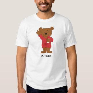 Fã do urso de ursinho P dos desenhos animados T-shirt