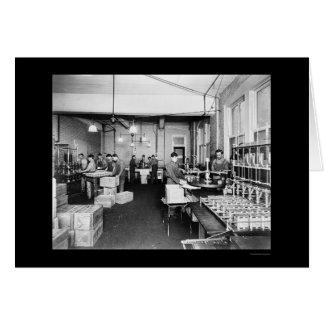 Fábrica do azeite em Pompeia 1912 Cartão Comemorativo