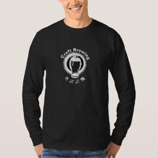 Fabricação de cerveja do artesanato, preto & camiseta