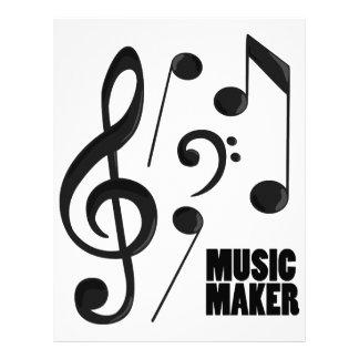 Fabricante da música modelos de papel de carta