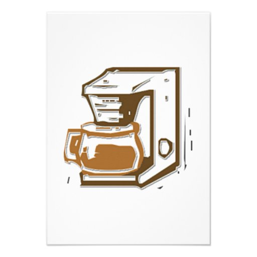 Fabricante de café convite personalizado