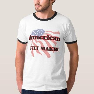 Fabricante de feltro do americano tshirt