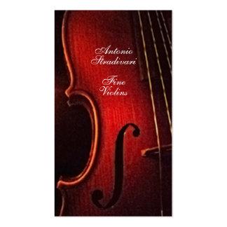 Fabricante fino Luthier do instrumento do violino Cartoes De Visita