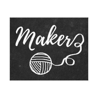 Fabricante • Fio & artesanatos/sala do artesanato Impressão Em Canvas