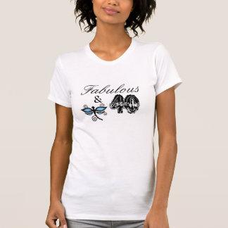 Fabuloso & 40, luz - camisa azul da libélula camiseta