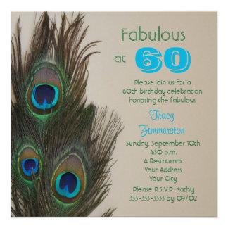 Fabuloso no 60th convite de aniversário 60