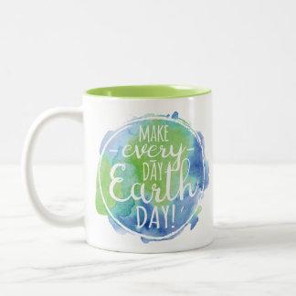 Faça a caneca diária do Dia da Terra
