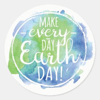 Faça a etiqueta diária do Dia da Terra