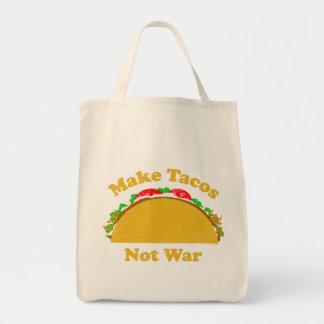 Faça a guerra do Tacos não Sacola Tote De Mercado