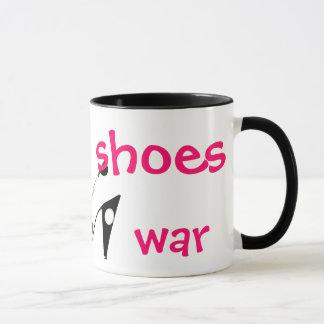 Faça a guerra dos calçados não a caneca cómico