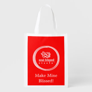 Faça a meus Blissed! Saco reusável Sacola Reusável
