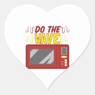 Faça a onda adesivo coração