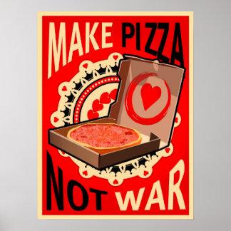 Faça a pizza, não guerra, poster