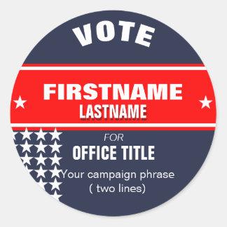 Faça a sua campanha a etiqueta redonda