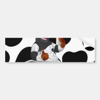 Faça a vaca de leite da bebida das vacas com adesivo para carro