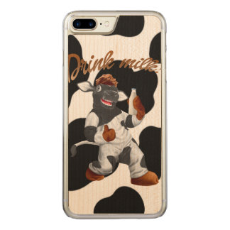 Faça a vaca de leite da bebida das vacas com capa iPhone 7 plus carved