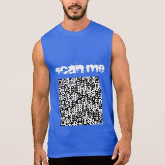 """""""Faça a varredura de me"""" t-shirt dos sleevelss dos Regata"""