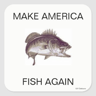 Faça América pescar outra vez a etiqueta