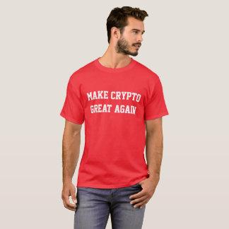 """""""Faça camisa superior vermelha do excelente cripto"""