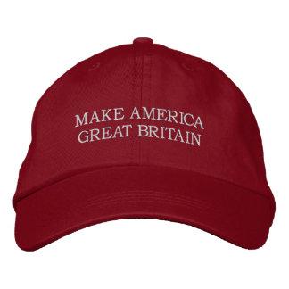 """""""Faça chapéu de América Grâ Bretanha"""" Boné Bordado"""