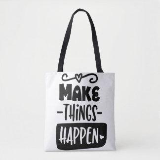 Faça coisas acontecer o bolsa inspirado