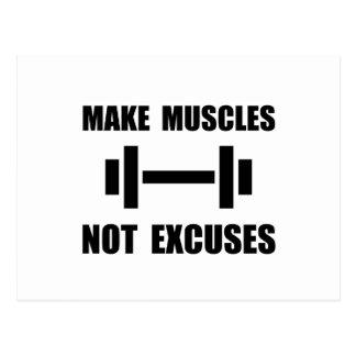Faça desculpas dos músculos não cartão postal