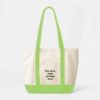 Faça inteligente simples e simples inteligente bolsas de lona