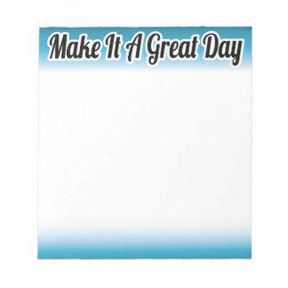 Faça-lhe um bloco de notas inspirado do grande dia