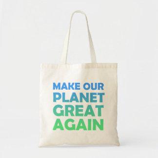 Faça nosso excelente do planeta outra vez bolsa tote