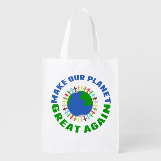 Faça nosso excelente do planeta outra vez sacola ecológica